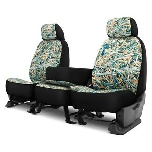 Dash Designs Cowboy Camo 1st Row Turquoise Custom Seat Covers