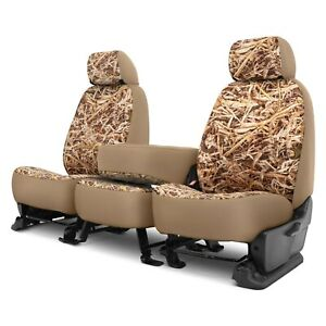 For Chevy Silverado 1500 Ld 19 Cowboy Camo 1st Row Straw Custom Seat Covers