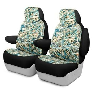 For Chevy Silverado 1500 Ld 19 Cowboy Camo 1st Row Turquoise Custom Seat Covers