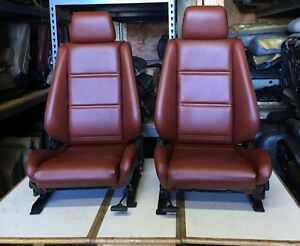 Bmw E30 325 318 New Card Red Front Seats For Convertibles 1982 91 1500 00