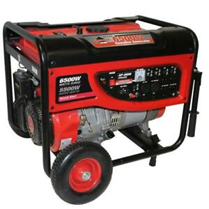 11hp Portable Generator 6500w Not Used Ran 20 Minutes For Break in