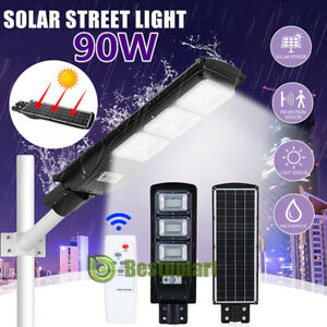 420000LM Commercial Solar Street Light LED Outdoor IP67 Dusk-to-Dawn Light +Pole $73.81
