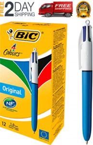 Bic 4 color Ballpoint Pen Medium Point 1 0mm Assorted Inks 12 count