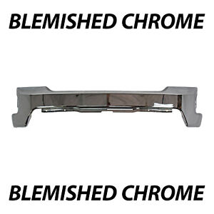 Blemished Chrome Front Bumper Face Bar For 2019 2020 Chevy Silverado 1500 19 20
