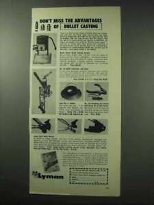 1962 Lyman Bullet Casting Ad Don#x27;t Miss Advantages $16.99