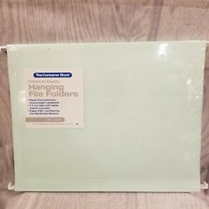 The Container Store Hanging File Folders Letter Size Pistachio Pack Of 6