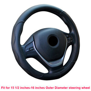 Car Steering Wheel Cover Large Size For 15 1 2 Inches 16 Inches Outer Diameter