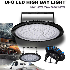 Ufo Led High Bay Light 50 100 200 300 500w Low Bay Warehouse Industrial Lights