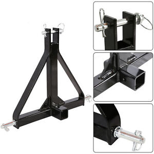 3 Point 2 Receiver Trailer Hitch Category 1 Tractor Tow Drawbar Adapter