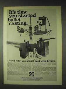 1972 Lyman Bullet Casting Ad Time You Started $16.99