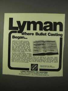 1975 Lyman Bullet Casting Ad Where Casting Began $16.99