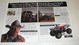 1991 Polaris ATVs Ad - What We're Doing in Texas