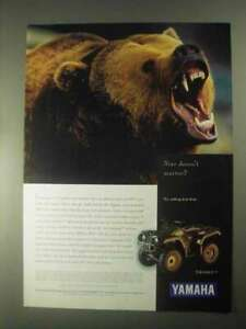 1998 Yamaha Grizzly ATV Ad - Size Doesn't Matter?