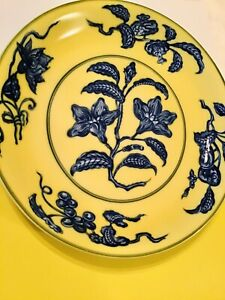 Mottahedeh Reproduction Ming Dynasty Mmoa Yellow Blue Bowl