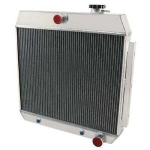 4 Row Aluminum Radiator For Chevy Belair Nomad Cars V8 Engine 1955 1956 1957