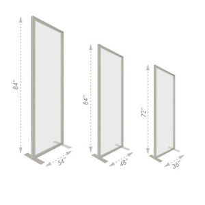 Free standing Social Distancing Partition Crystalflex Soft Glass Portable
