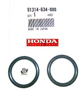 2 X Oem Honda Coolant Connecting Pipe O Ring Set Honda Civic Crx Accord Integra