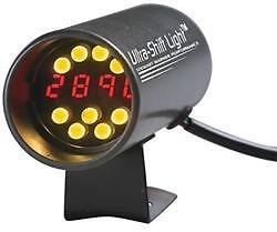 Stewart Warner 114906 Ultra shift Digital Yellow Tachometer Shift Light