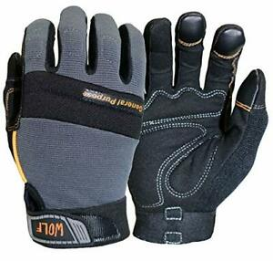 Wolf Work Gloves Mechanic Glove Heavy Duty All purpose Stretchable Flex Grip New