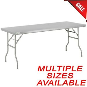 Pick Your Size Stainless Steel Open Base Folding Work Table Metal Prep Stand New
