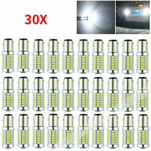 30x White Canbus 1157 Bay15d 33 smd 5630 Car Led Tail Stop Brake Light Bulb Lamp