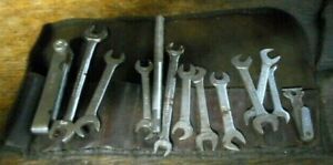 Vintage Set Of Blue Point Ignition Wrenches Mix Match With Leather Pouch