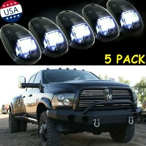 Smoked Lens Rooftop Cab Running Light Led 6000k Kit For Dodge Ram 1500 2500 3500