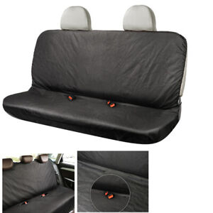 Black Waterproof Car Rear Back Seat Cover Protector Fit For Interior Accessorie