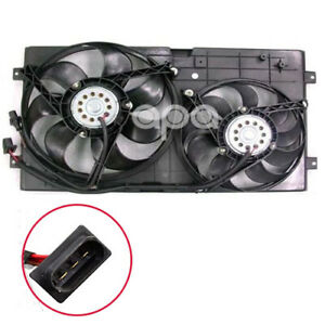 Dual Radiator Cooling Fan W Motor Assembly For 98 05 Vw Beetle