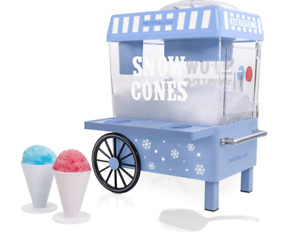 Nostalgia Vintage Countertop Snow Cone Maker Machine Ice Shaver Crusher Shaved