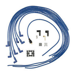Accel 5041b 8mm Blue Spark Plug Wire Set Universal Blue Wire 90 Boots