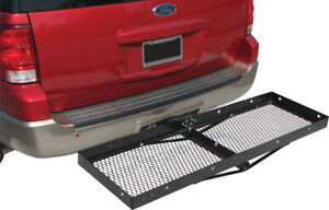 Hitch Mounted Cargo Carrier Luggage Basket Trailer Receiver Rack Truck Suv 2 Rec