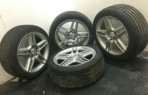 18 Mercedes Benz S600 Rim Set Rims Wheels Tires 18 Inch W220 W215 S430 S500