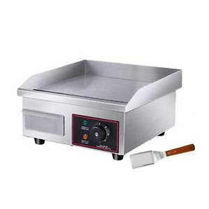 Electric Countertop Griddle Flat Top Grill Plate Bbq Hotplate Commercial Us 110v