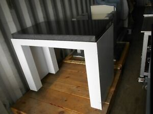 41 X 22 x 4 Polished Granite Flat Mounted In Vibration Isolation Table Frame