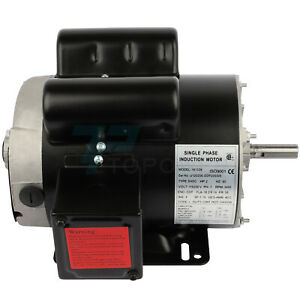 2hp Electric Motor For Air Compressor Single Phase 3450rpm 60hz 115 230v