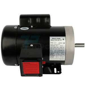 1hp Electric Motor For Air Compressor Single Phase 1750rpm 60hz 115 230v