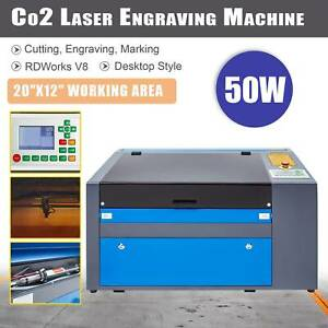 Co2 Laser Engraver 50w 20 x12 Cutting Engraving Marking Machine For Woodworking