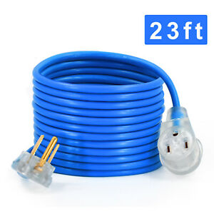 23ft Generator Rv Extension Cord 3 Prong Power Cable 50a Dryer Cord Adapter Plug