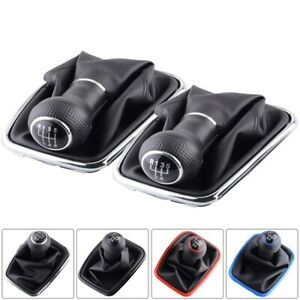 5 6 Speed Gear Shift Knob Lever Shifter Gear Shift Collars Fit For Vw 04 09 Golf