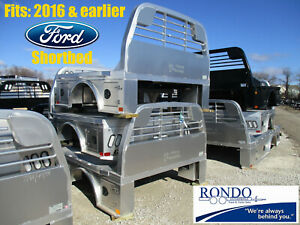 2016 Earlier Ford Short Bed Cm Skirted W Tool Boxs Aluminum Flatbed Body Alsk