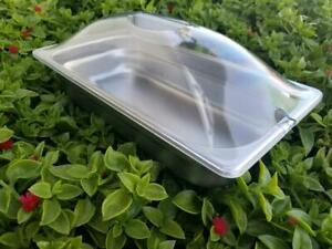 New Winco Spjl 302 1 3 Size 2 1 2 In Deep Steam Table Pan W Clear Dome Lid