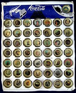 Japan Complete Collection! STAR WARS 50 Coca-Cola Bottle Caps & Collecting Board
