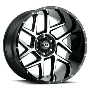 Set Of 4 Vision Off Road 360 20x10 6x139 7 29 Gloss Black Machined Face