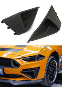 Abs Black Accessories Front Bumper Air Intake Trim 2pcs For Ford Mustang 18 20