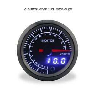 Sincotech 2 Car Air Fuel Ratio Gauge Meter Lean optimal rich Range Led Do636