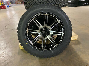20x9 Helo He900 Black Machined Wheels Rims 32 At Tires 5x150 Fits Toyota Tundra