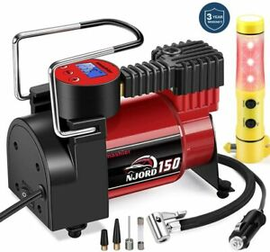 Dual Air Compressor Inflator Ideal For Truck Bus Suv 4x4 Rv Tires Extended