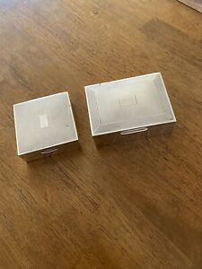 2 Beautiful Antique Sterling Silver Boxes Birmingham Uk