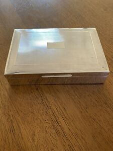 Large Antique Herman Bros Sterling Silver Box Birmingham Uk
